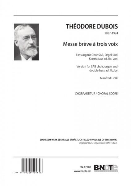 Dubois: Messe brève à 3 voix (Chorpartitur)