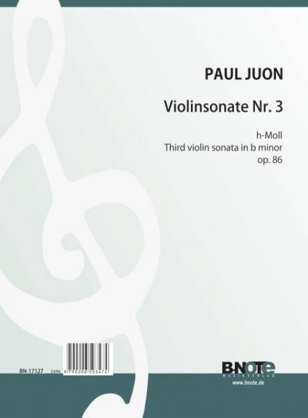 Juon: 3me Sonate pour violon et piano op.86