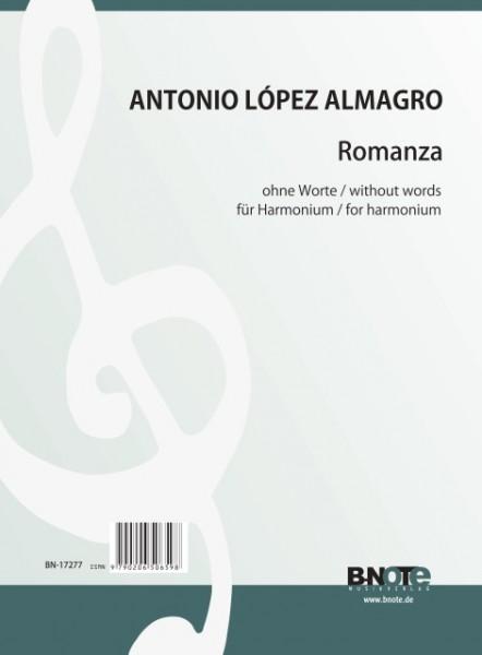 López Almagro: Romanza sin palabras für Harmonium