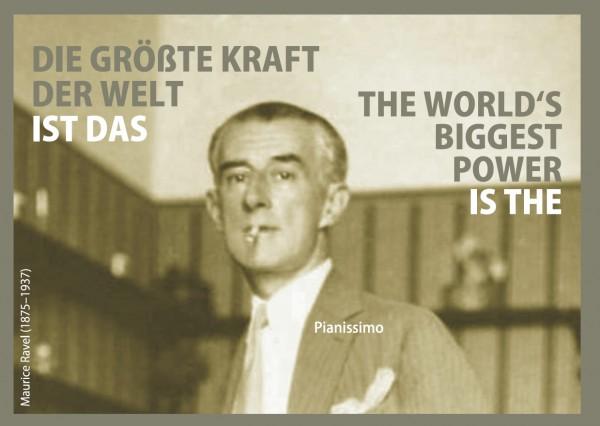Postkarte: Die größte Kraft der Welt ...