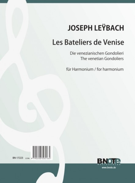 Leybach: Les Bateliers de Venise pour harmonium