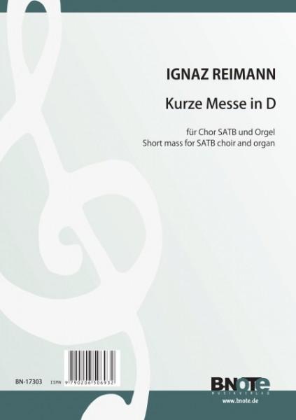 Reimann: Short mass in D for SATB choir and organ