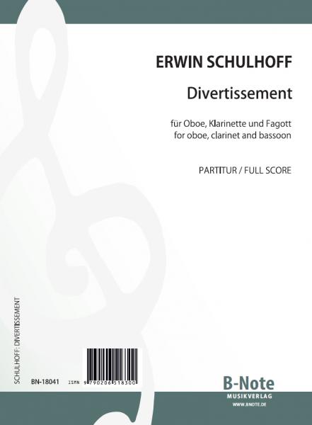 Schulhoff: Divertissement für Oboe, Klarinette und Fagott