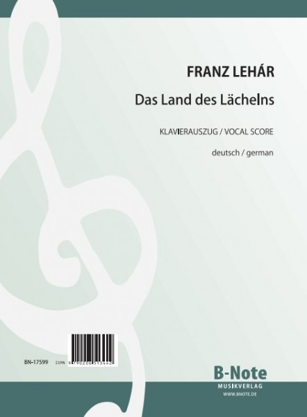 Lehár: The Land of Smiles (Vocal score / german)
