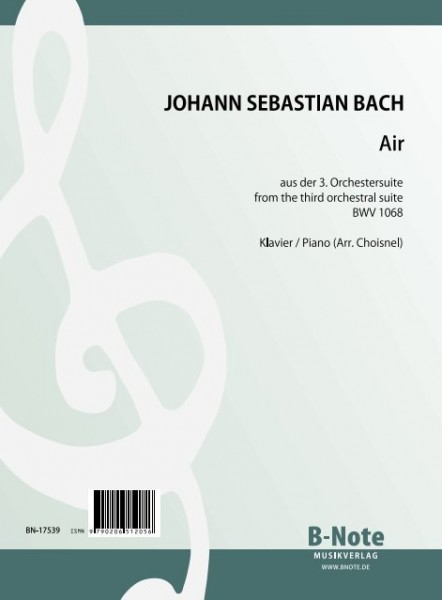 Bach: Air from the 3rd orchestra suite BWV 1068 (Arr. piano)