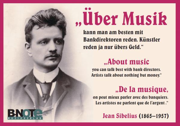 Postkarte: Über Musik ...
