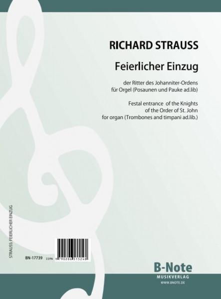Strauss: Feierlicher Einzug für Orgel (Posaunen und Pauke ad.lib.)