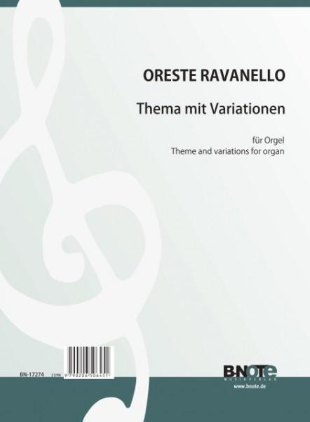 Ravanello: Thema mit Variationen für Orgel