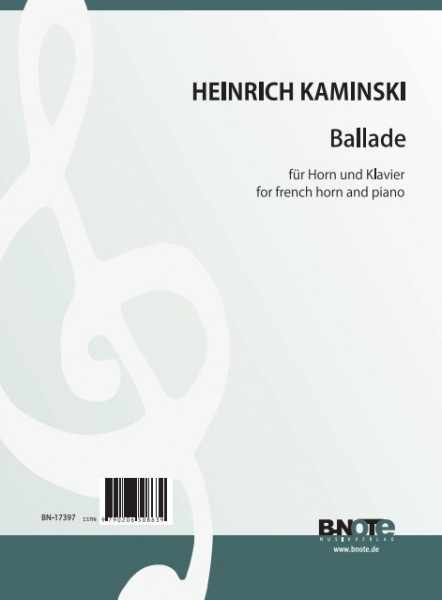 Kaminski: Ballade for french horn and piano