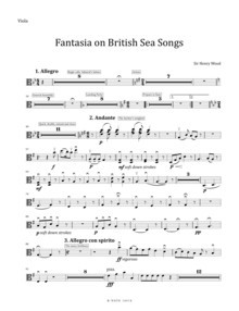 Wood: Fantasia on British Sea Songs (original version) (set of parts)