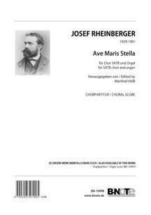Rheinberger: Ave Maris Stella for SATB choir and organ (choral score)