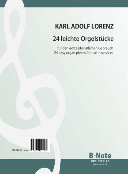 Lorenz: 24 pièces faciles pour orgue ou harmonium op.53/55