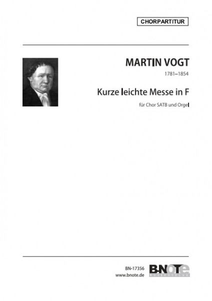 Vogt: Short and easy mass for SATB choir and organ (latin) (choral score)