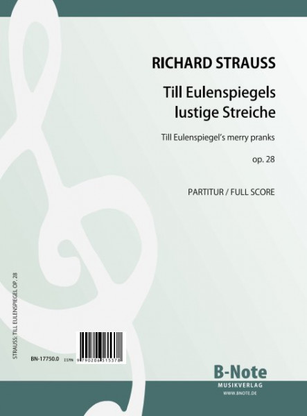 Strauss: TIll Eulenspiegel's Merry Pranks for orchestra op.28 (score/parts)