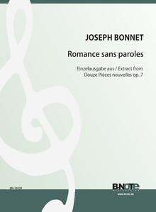 Bonnet: Romance sans paroles (aus Douze Pièces pour orgue op.7)