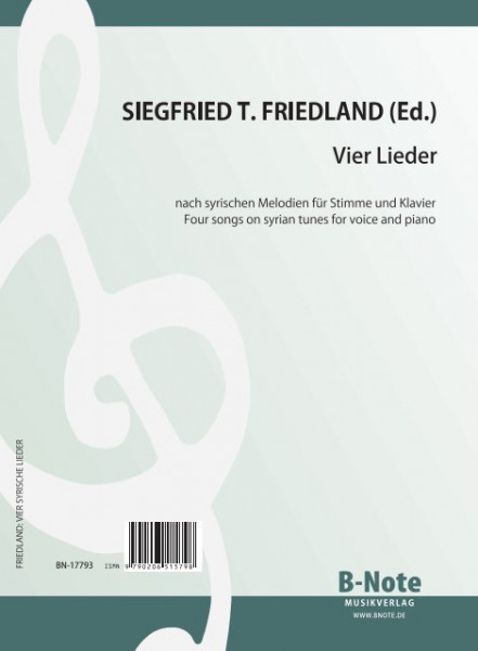 Friedland: For syrian songs for voice and piano