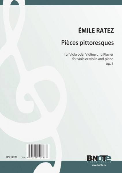Ratez: 12 Pièces pittoresques for viola and piano op.8