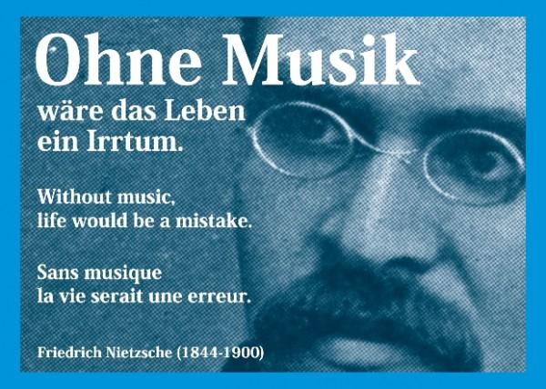 Carte postale: Sans musique ...