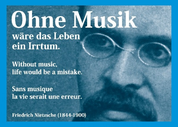 Postkarte: Ohne Musik ...
