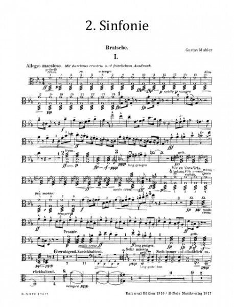 Mahler: Symphony No. 2 (Resurrection) for choir and orchestra (orchestral parts)