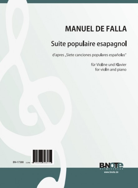 Falla: Suite populaire espagnol für Violine und Klavier