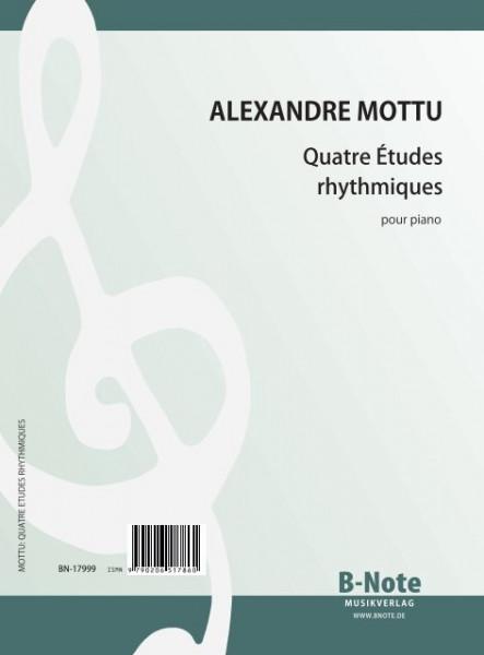 Mottu: Quatre Études rhythmiques for piano