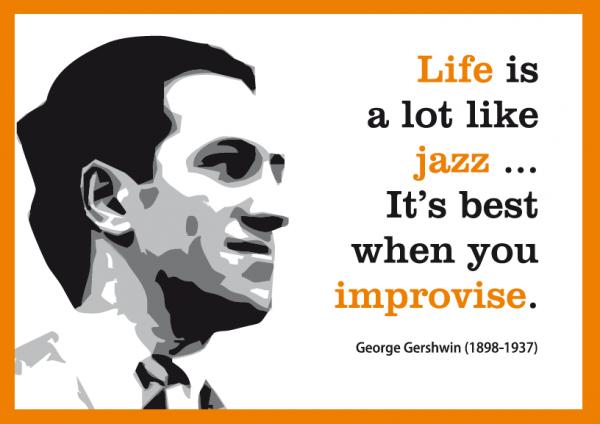 Postkarte: Life is like Jazz ...