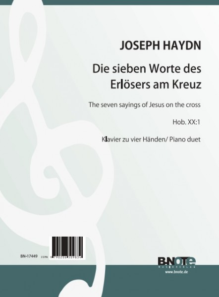 Haydn: The seven sayings of Jesus on the cross Hob. XX:1 für piano duet (Arr. Winkler)