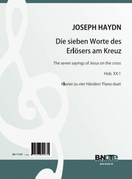 Haydn: Die sieben Worte des Erlösers am Kreuz Hob. XX:1 für Klavier zu vier Händen (Arr. Winkler)