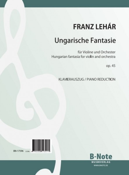 Lehár: Hungarian fantasia for violin and piano op.45