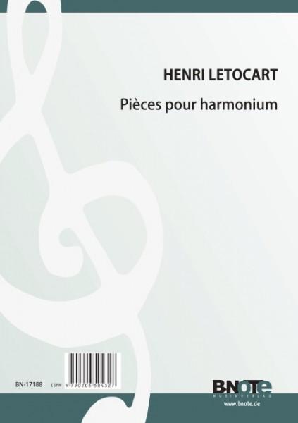Letocart: Pièces pour harmonium