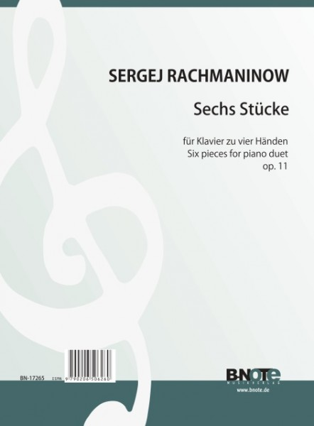 Rachmaninow: Six pieces for piano duet op.11