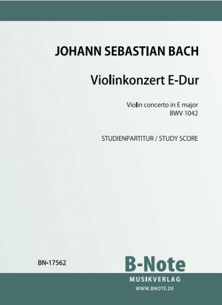 Bach: Violin concerto in E major BWV 1042 (Pocket score)