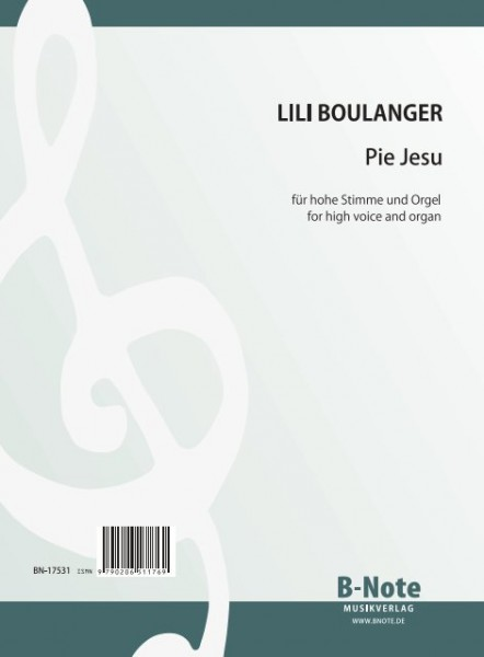 Boulanger: Pie Jesu for high voice and organ