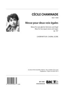 Chaminade: Mass for two female voices and organ (harmonium) op.167 (choral score)