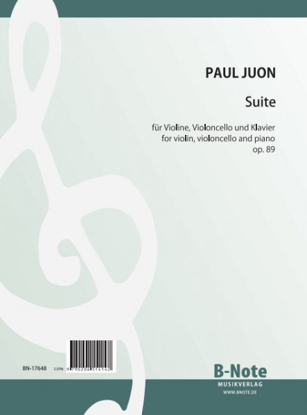 Juon: Suite for violin, violoncello and piano op.89