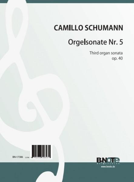 Schumann: Orgelsonate Nr. 5 g-Moll op.40