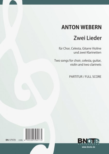 Webern: Deux chansons pour choeur et instruments op.19 (partition)