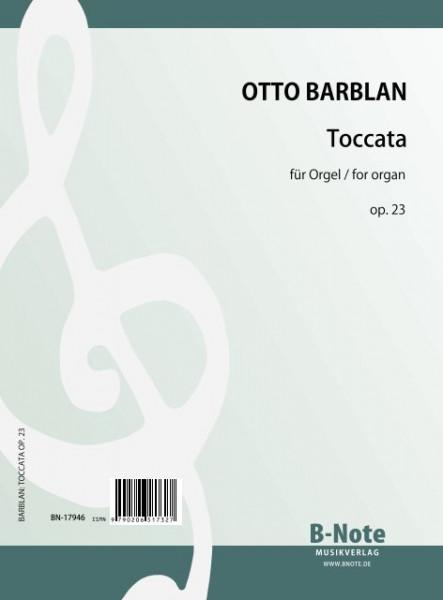 Barblan: Toccata für Orgel op.23