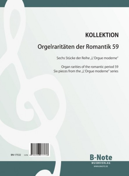 "Diverse: Organ rarities of the romantic period 59: Pieces from ""L'Orgue moderne"" Vol.1"