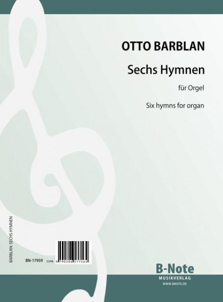 Barblan: Six Hymns for organ