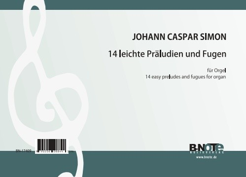 Simon: 14 easy preludes and fugues for organ