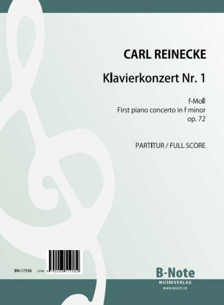 Reinecke: Klavierkonzert Nr.1 f-Moll op.72 (Partitur)
