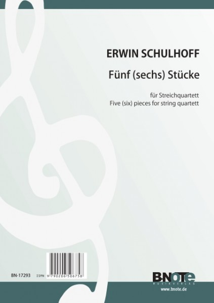 Schulhoff: Five pieces for string quartet (full score)