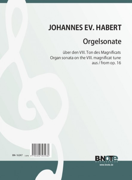 Habert: Organ sonata on the 8th psalm tune from op.16/1