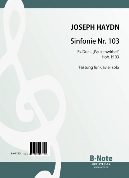 "Haydn: Symphonie nr.103 ""Roulement de timbales"" Hob. I:103 (Arr. piano)"