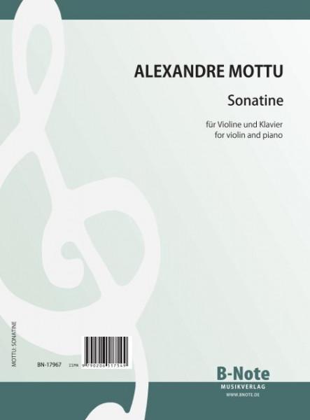 Mottu: Sonatine für Violine und Klavier (1932)