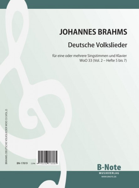 Brahms: German folk songs for voice and piano WoO 33 (Vol.2)