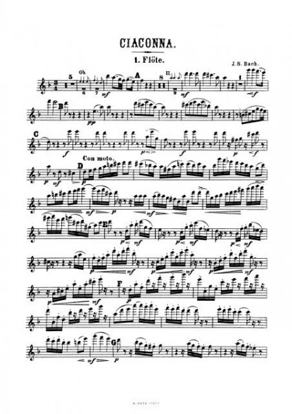 Bach: Chaconne from BWV 1004 for orchestra (Arr. J. Raff) (Set of parts)